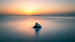 Sunrise on the rock - Crete, Greece - Seascape photography (Giuseppe Milo (www.pixael.com)) Tags: photo rock crete sunrise landscape agiapelagia travel view photography sea sky greece seascape europe geotagged clouds achlada onsale portfolio