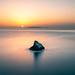 Sunrise on the rock - Crete, Greece - Seascape photography