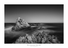 Ethereal Magic (Dominic Scott Photography) Tags: dominicscott newzealand wairarapa rock rocks white beach sea waves blackandwhite monotone sony ilce7rm3 a7rm3 a7rmiii sel2470gm gmaster leefilters leeirnd bigstopper manfrotto longexposure ethereal magical fineart
