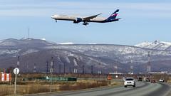 Aeroflot Boeing 777-3M0(ER) VP-BGB, approaching RW16R (Zhuravlev Nikita) Tags: spotting elizovo kamchatka uhpp 777 boeing aeroflot