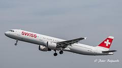 HB-IOM  Airbus A321-200 - Swiss (Peter Beljaards) Tags: msn4534 cfm565 bienne biel