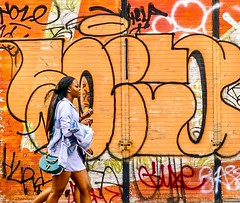 IMG_1140632 (Kathi Huidobro) Tags: london streetphotography streetportrait londonstyle reportage eastlondon orange candid graffiti urbanscene urban