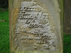 Gravestone. (Vinnyman_One) Tags: gravestone cemetery graveyard weather eroded st saint mary margaret church castle bromwich