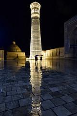 Usbekistan (isoldenowak) Tags: isoldenowak nikon 14mm oldsilkroad silkroad buxhoro minarett reflecting reflexion waterreflection night buchara uzbekistan usbekistan
