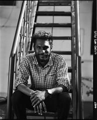 (Jerry501) Tags: mediumformat 120film analog film india man pentax67 portrait blackandwhite bnw bw hp5 ilfordhp5