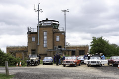Stag Day at Greenham Common Control Tower (Terrycym) Tags: berkshire newbury greenhamcommoncontroltower triumphstag fujifilmxe3 xf27mmf28 coldwar flickrclickx england