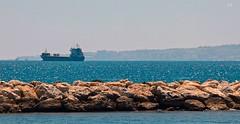 blue dream (lauracastillo5) Tags: ocean sea seascape seashore boat ship beach blue coast malaga spain travel outdoors landscape sun morning port sunlight