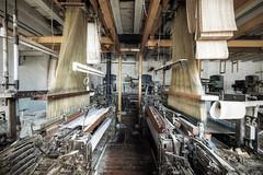 Twin weavers (Mike Foo) Tags: urbex abandoned abbandono rozklad hdr opuštěný opuszczony derelict decay disused forgotten forbidden fuji fujifilm xt2 weaving factory fabric textile cloth