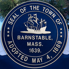 Seal of the Town of Barnstable (Timothy Valentine) Tags: squaredcircle 0419 large sign 2019 capecod hyannis massachusetts unitedstatesofamerica