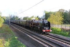 WCRC & RTC 'Great Britain XII'  1Z86 with Stanier LMS 8P No. 6233 'Duchess of Sutherland' passing Standish Lancashire on the WCML  on a sunny Spring evening 29th April 2019 © (steamdriver12) Tags: lancashire england spring west coast main line wcrc rtc great britain zii 1z86 stanier lms 8p no 6233 duchess sutherland standish wcml sunny evening 29th april 2019 smoke steam coal oil heritage preservation
