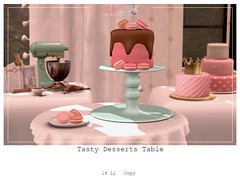 Tasty Desserts Table (..SomeDay..) Tags: cake sweet drip chocolate decor home food macaroons secondlife marketplace advertise store design flickr