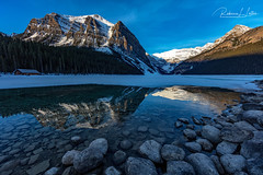 A Spring Morning At Lake Louise In Banff National Park, Canada (rebeccalatsonphotography) Tags: spring april mountains lake reflection snow wideangle np banff nationalpark lakelouise rebeccalatsonphotography canon canada alberta