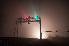 Fog On The C&O (WillJordanPhoto) Tags: co csx transportation signals night fog pemberville ohio railroads trains