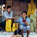 Teens in Back of Truck, Yangon Myanmar