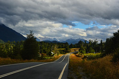 Magic South (sk Krouse) Tags: south southamerica chile mountain mountains nikon landscape landscapes scenery clouds travel travels patagonia adventure d3200 magic road carretera austral lighting roadside trees dramatic wild southern sur