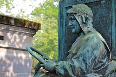 The grave of Léon Théry (1879-1909), French racing driver (adamsgc1) Tags: pèrelachaisecemetery perelachaise cemetery paris graveyard grave burial gravestone léonthéry racingdriver statue car vehicle