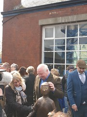 """Waiting for Me Dad - Mackenzie Thorpe sculpture unveiling • <a style=""""font-size:0.8em;"""" href=""""http://www.flickr.com/photos/156364415@N06/46824510805/"""" target=""""_blank"""">View on Flickr</a>"""