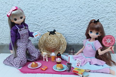 Picnic on the balcony... (Ninotpetrificat) Tags: mamachapp mamachapptoy muñeca doll japantoys asiandoll anime japandolls puppe rement picnic cute kawaii hobby handmade toys
