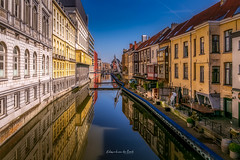 Ghent 2019 (EBoss Fotografie) Tags: ghent gent belgie belgium europe canon colors soe twop supershot canal bridge architecture building blue reflections water sky