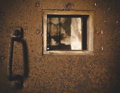 What's beyond? (frankdorgathen) Tags: banal mundane alpha6000 sony1018mm minimalismus minimalistic minimalism mining bergbau ruhrpott ruhrgebiet bochum industry industriekultur zechehannover rust rost verfall decay alt old tür door