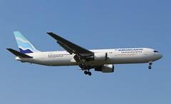 CS-TKR Boeing 767-36NER EuroAtlantic Airways (R.K.C. Photography) Tags: cstkr boeing 76736ner b767 aircraft aviation airliner euroatlanticairways portugal london england unitedkingdom uk londonheathrowairport 09l lhr egll canoneos100d