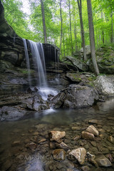 Emory Gap Falls, 2019.04.27 (Aaron Glenn Campbell) Tags: glamourglow softfocus outdoors nature optoutside spring hiking slowshutter waterfall emorygapfalls frozenhead statepark morgancounty wartburg tennessee tn nikcollection viveza colorefexpro sony a6000 ilce6000 mirrorless rokinon 12mmf2ncscs wideangle primelens manualfocus emount