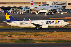 Skymark Boeing 737- 86N JA73NG (Mark Harris photography) Tags: spotting plane aviation canon 5d japan haneda