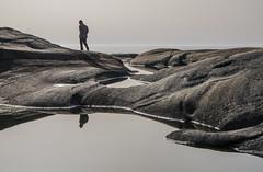On the rocks (AstridWestvang) Tags: brunlanes coast larvik people puddle rock sea