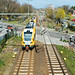 German ODEG train passing a level crossing