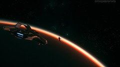 In the Expanse (Space Tomato) Tags: starcitizen spaceship spacesim screenshot spacephotography spacegame stanton squadron42 space spacetomato lyria moon hurston 300i terrapin flying flight videogamescreenshot videogames virtualphotographer