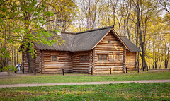 The house of Peter the Great in Kolomenskoye (Moscow, Russia) (KonstEv) Tags: house building wooden architecture spring peter peteri tsar домик изба сруб museum музей петр петрi царь дом архитектура строение бревно log