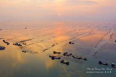 Sunset @  Xiapu, Fujian (Jennifer 真泥佛 * Taiwan) Tags: 船 夕陽 sunset xiapufujian 霞浦 空拍 m2p china xiapu