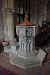 158-20180714_Bridstow Church-Herefordshire-S Aisle, W end-the Font (Nick Kaye) Tags: bridstow herefordshire england church font
