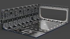 LEGO UCS Millennium Falcon Hangar (Ashlookk) Tags: lego starwars star wars hangar millennium falcon 75192 moc ucs docking launchpad bay