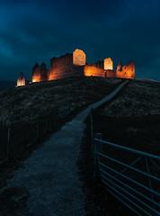 The Path to Enlightenment! (captures.in.time) Tags: castle barracks kingussie cairngorms ruthven ruthvenbarracks scotland visitscotland bluehour blue light setting aviemore highlands lit night le longexposure