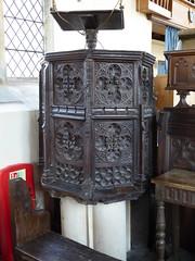Pulpit, Walberswick (Aidan McRae Thomson) Tags: walberswick church suffolk medieval pulpit woodcarving woodwork