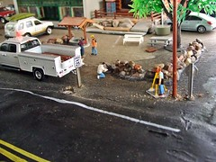 Thursday  May 2 ,2019 (THE RANGE PRODUCTIONS) Tags: matchbox greenlight hoscalefigures 164scale dioramas diecast diecastdioramas toy model display ram2500 nissan