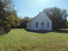 114. An old church in Pawnee Station, 10-21-18 (leverich1991) Tags: exploring kansas 2018 pawnee station bourbon anna school