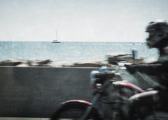 u' (*BegoñaCL) Tags: motorbike ship sea mediterráneo horizon road begoñacl