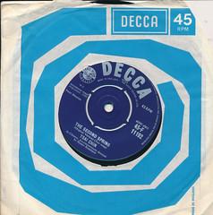 IMG_0016 Record 45 RPM Vinyl Single Music Collection Decca Tsai Chin The Second Spring 1959 (photographer695) Tags: record 45 rpm vinyl single music collection decca tsai chin the second spring 1959