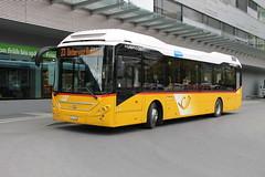 GR 7288 Volvo 7900 Hybrid - PostAuto (Ray's Photo Collection) Tags: volvo postauto postbus hybrid gr7288 landquart gr switzerland schweiz suisse swiss railway station rhb 7900
