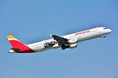 "(ORY) IBERIA Airbus A321-200 EC-IJN ""Cantabria livery""Takeoff runway 08 to Madrid (dadie92) Tags: orly lfpo iberia airbus a321 a321200 ecijn speciallivery cantabria madrid takeoff spotting aircraft airplane nikon d7100 sigma tamron danieldanel"