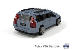 Volvo V50 C1 (2004) (lego911) Tags: volvo p1 c1 v50 estate wagon 2004 2000s auto car moc model miniland lego lego911 ldd render cad povray ford motor company sweden swedish afol