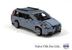 Volvo V50 C1 (2004) (lego911) Tags: volvo p1 c1 v50 estate wagon 2004 2000s auto car moc model miniland lego lego911 ldd render cad povray ford motor company sweden swedish afol foitsop