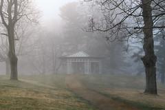 (Chancy Rendezvous) Tags: landscape park gazebo morning spring fog mist trees institutepark wpiedu worcester wpi grass wet gloomy rain rotunda