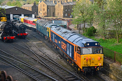 50007 47727 31163 41001 Haworth (British Rail 1980s and 1990s) Tags: shed depot preserved preservation haworth kwvr tmd keighleyworthvalleyrailway heritageline dieselgala train diesel yorkshire traction rail railway loco locomotive livery liveried red br edinburghcastle brush cs hoover 50 31 britishrail ee hercules 47 41 rtc sulzer type2 englishelectric class50 warspite caledoniansleeper gbrailfreight class47 type4 class31 41001 31163 50007 47727 gbrf 50014 97605 class41 researchdepartment europorte convoy intercity hst highspeedtrain intercity125 ic125 powercar 5z56 steam railroad