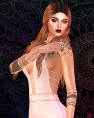 Mandala (meshedgal) Tags: head genus project classic face bento body maitreya – lara pose dae fair opens may 4th skin the skinnery caroline freckless applier fit eyes clarity palette dubai eyeshadow look at me extra eyeliner lipstick elei hebe hairstyle rama salon abbie fameshed dress seniha originals nessa tres chic accessories l'etre basic mesh ears leluck false lashes mister razzor lia tattoo avatar avi blog blogger fashion beauty model second life sl