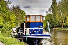 Dutch Barge (Jez22) Tags: dutch barge emanuelle builtrotterdam1907 allingtonlock maidstone kent england river rivermedway boat water mooring moored photography copyright jeremysage
