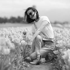 Tulip Season (Photo Alan) Tags: vancouver canasda canada people blackwhite blackandwhite monochrome