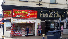 Seaside essentials.. Rock & chips! (Mike-Lee) Tags: filey northyorkshire holiday family grandkids kids beach sunshine campervan playing eating april2019